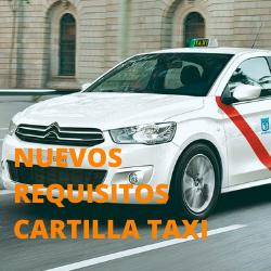 nuevos requisitos cartilla de taxi