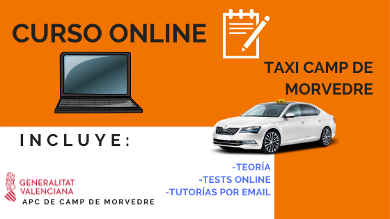 Curso Online de Taxista Camp de Morvedre