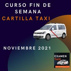 curso cartilla de taxi noviembre 2021