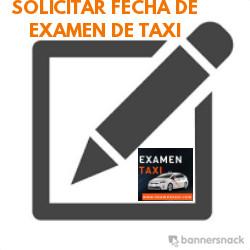 Solicitar Fecha de Examen de Taxi